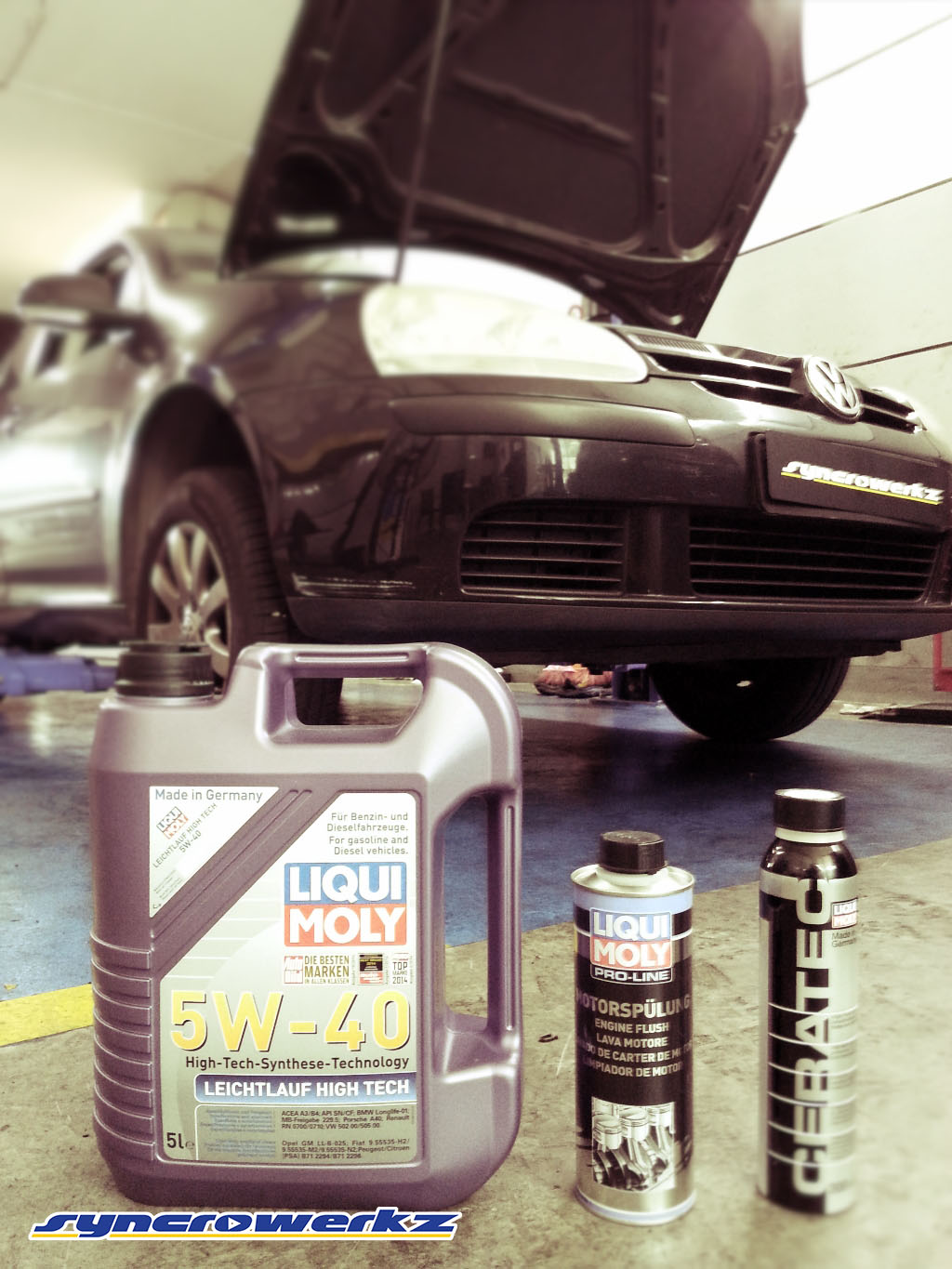 Liquimoly Oil Servicing Package on a Volkswagen