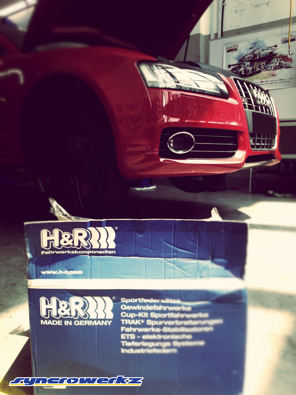 Featuring the H&R Cup-Kit Spring Installation on the Audi A
